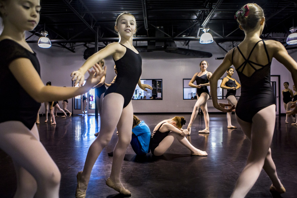 Rehearsal of the party scene at Dance Studio 111 on Saturday, Nov. 14, 2015, for The Nutcracker. [David Jolkovski/Ahwatukee Foothills News]