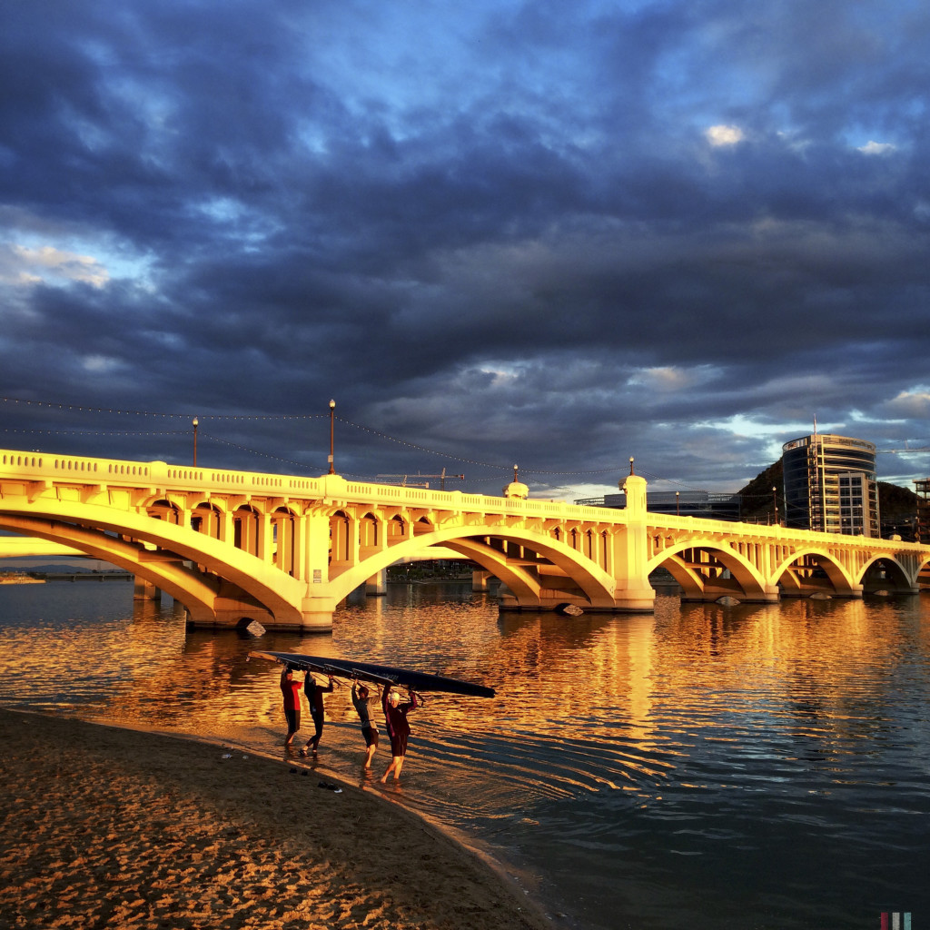 Rowing, March 3, 2015, Tempe Town Lake.
